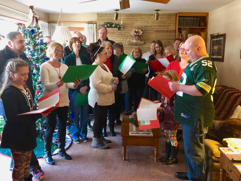 Christmas Caroling at homes of our elderly members