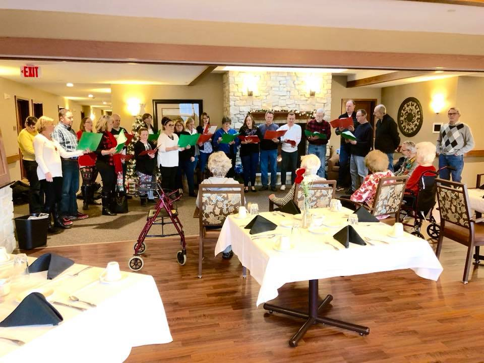 Christmas Caroling at local nursing homes